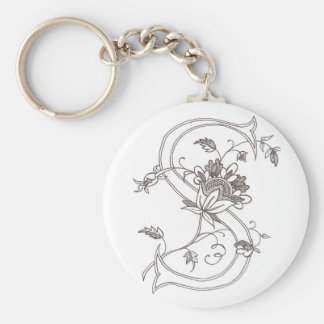 Floral S Keychain