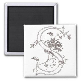 Floral S Magnet