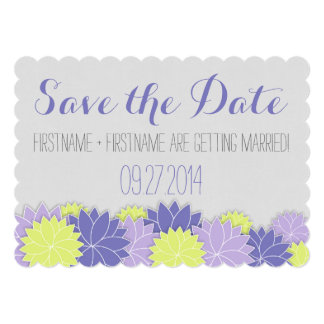 Floral Save the Date Announcements