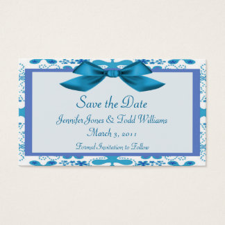 Floral Save the Date Business Card