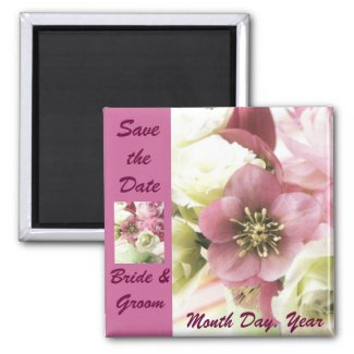 Floral Save the Date Magnet