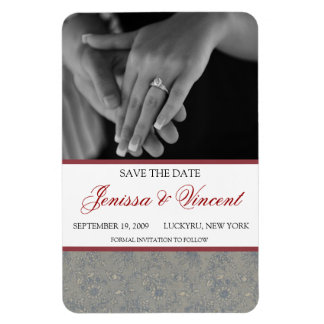 """Floral Save the Date Magnet 4"""" x 6"""""""