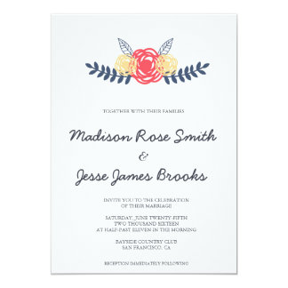 Floral Save the Date | WEDDINGS Card