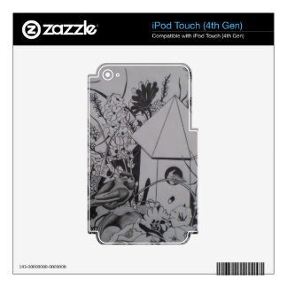 Floral Scene Decal For iPod Touch 4G