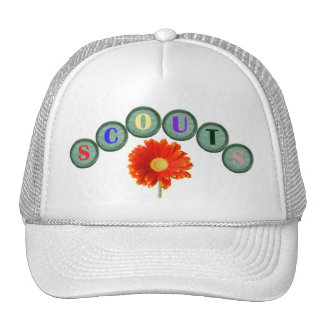 Floral Scouting Cap Trucker Hat