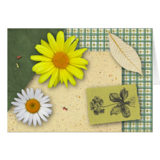 Floral Scrapbook Birthday Card (Large Print)