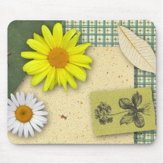 Floral Scrapbook Mousepad