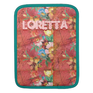 Floral scrapbook seamstress pattern iPad sleeve