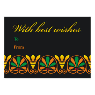 Floral scroll best wishes business cards