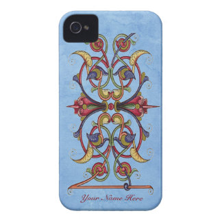 Floral Scroll iPhone Case - Barely There iPhone 4 Cases