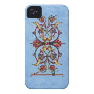 Floral Scroll iPhone Case - Barely There ID iPhone 4 Covers