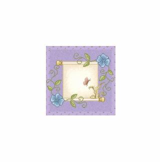 Floral Scroll Pixel Art Photo Sculpture