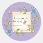 Floral Scroll Pixel Art Sticker