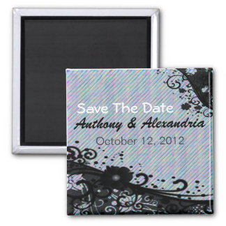 Floral Scroll & Texture Magnet