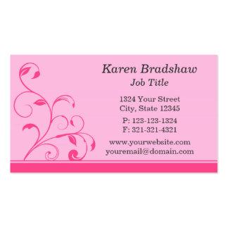 Floral Scrolls, Leaves & Vines Business Cards