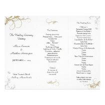 Floral Scrollwork Wedding Program Template