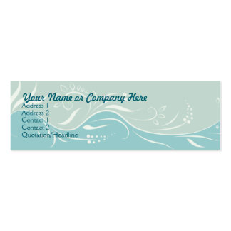 Floral Seafoam Double-Sided Mini Business Cards (Pack Of 20)