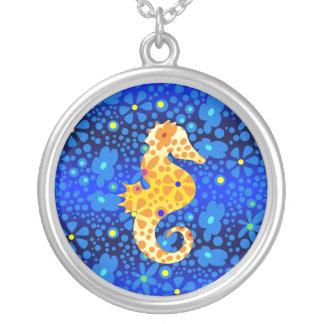 Floral Seahorse Necklace