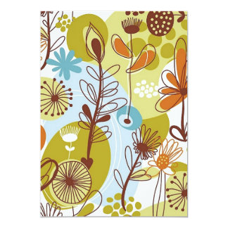 Floral Seamless Pattern retro goldens oranges fun Card