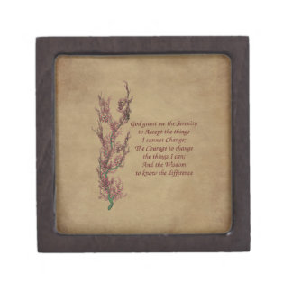 Floral Serenity Prayer Inspirational Gift Box
