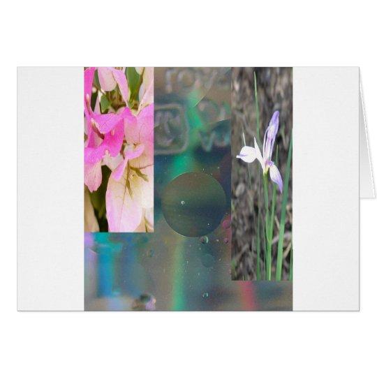 floral shapes card