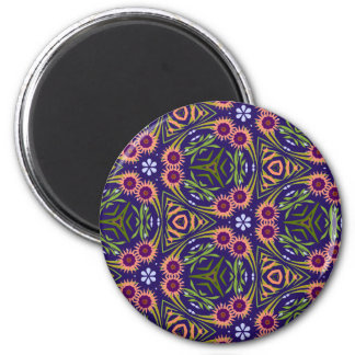 floral shapes II 553 mousepad 2 Inch Round Magnet