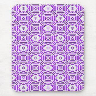 Floral Shokkoumon japanese pattern light purple Mouse Pad
