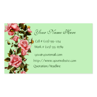 Floral Shop Roses Business Card