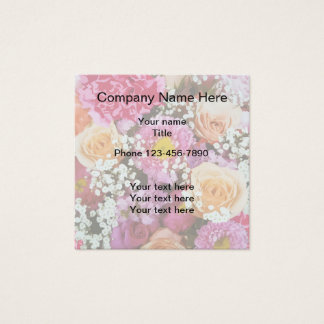 Floral Simple Business Design Square Business Card