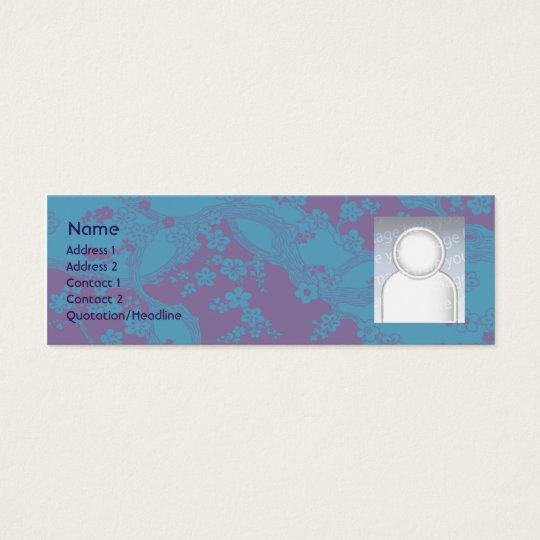 Floral - Skinny Mini Business Card