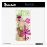 Floral Skins Decal For iPhone 4