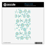 Floral Skins Decals For iPhone 4