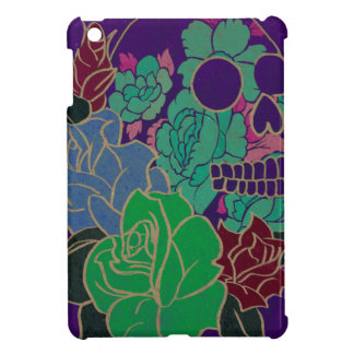 Floral Skull Abstract Case For The iPad Mini