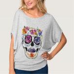 Floral Skull Design Flower Women's Top