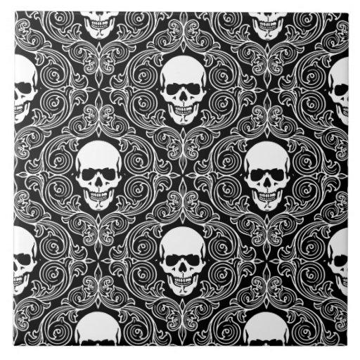 Floral Skull Tiles Zazzle