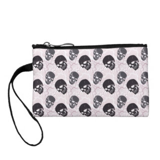 Floral Skulls Coin Purse