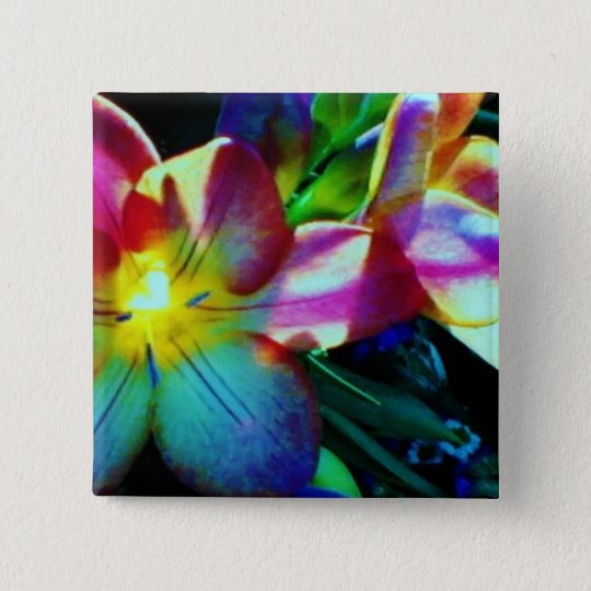 Floral small, 1¼ Inch Round Button
