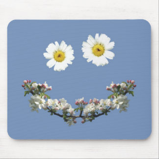 Floral Smile Mouse Pad