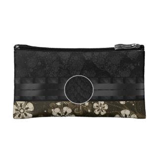 Floral Snake Monogram Makeup Bag