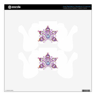 Floral Snow Decal For PS3 Controller