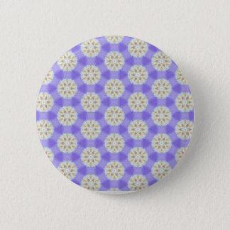Floral Snowflakes 1 Pinback Button