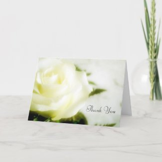 Floral Soft Yellow Rose Sympathy Thank You