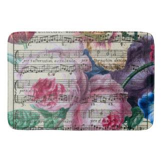 Floral Songs Bathroom Mat