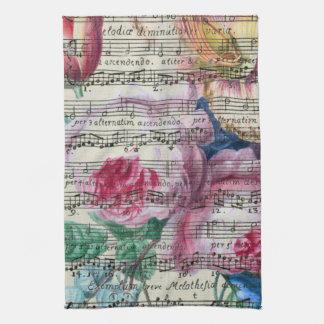 Floral Songs Hand Towel