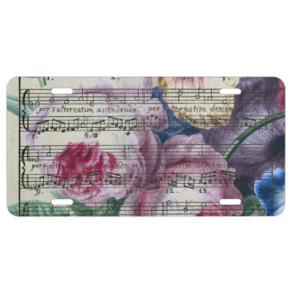 Floral Songs License Plate