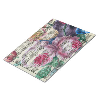 Floral Songs Notepad