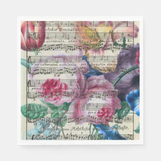 Floral Songs Paper Napkin