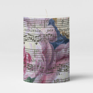 Floral Songs Pillar Candle