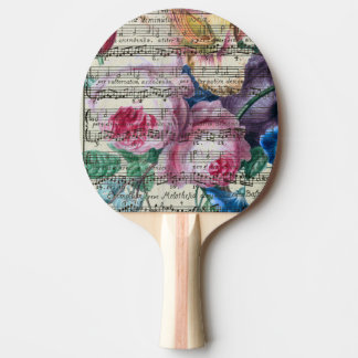 Floral Songs Ping-Pong Paddle