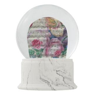 Floral Songs Snow Globe